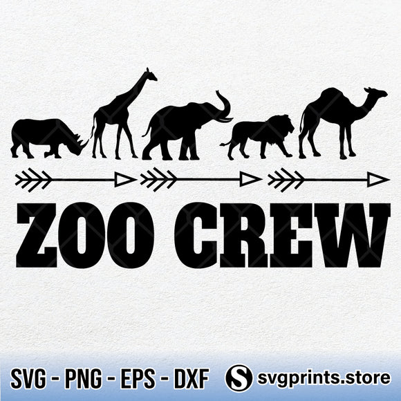 Zoo Crew SVG, Zoo Crew PNG Clipart DXF EPS-SVGPrints