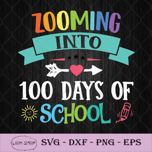 Zooming Into 100 Days Of School SVG PNG DXF EPS-SVGPrints