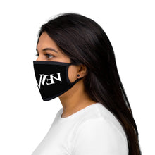 Load image into Gallery viewer, Mixed-Fabric Face Mask White Logo