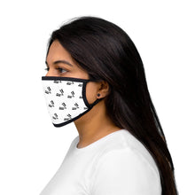 Load image into Gallery viewer, Mixed-Fabric Face Mask Black Emblem Repeat
