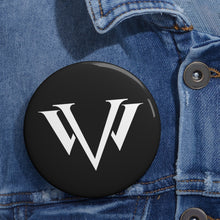 Load image into Gallery viewer, Custom Pin Buttons White Emblem