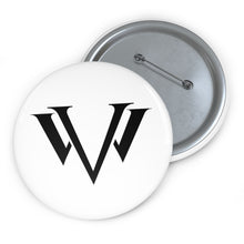 Load image into Gallery viewer, Custom Pin Buttons Black Emblem