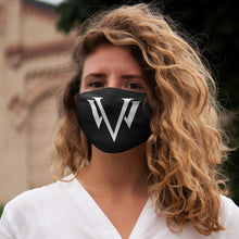 Load image into Gallery viewer, Snug-Fit Polyester Face Mask White Emblem
