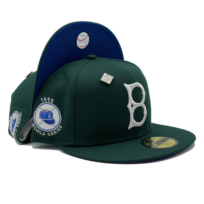 Brooklyn Dodgers 1955 World Series Patch Fitted Hat