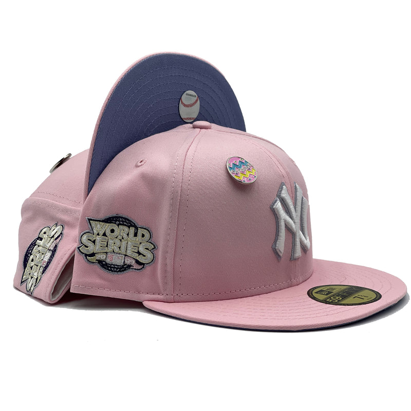 New York Yankees Easter Collection Pink / Lavender 2009 World Series Fitted Hat