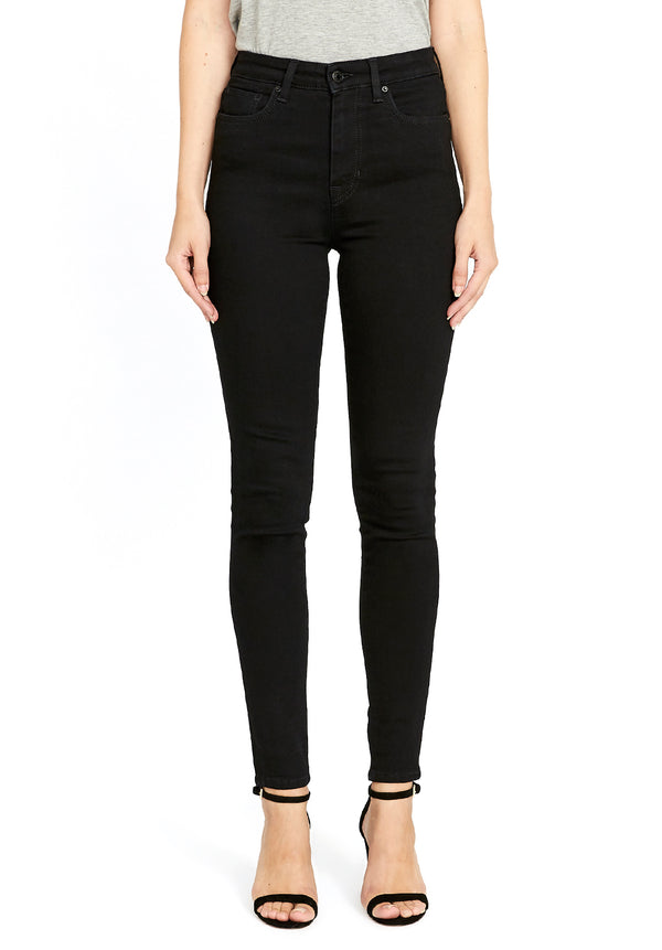 Buffalo David Bitton HI RISE SKINNY SKYLAR JEANS - BL15663 COLOR BLACK