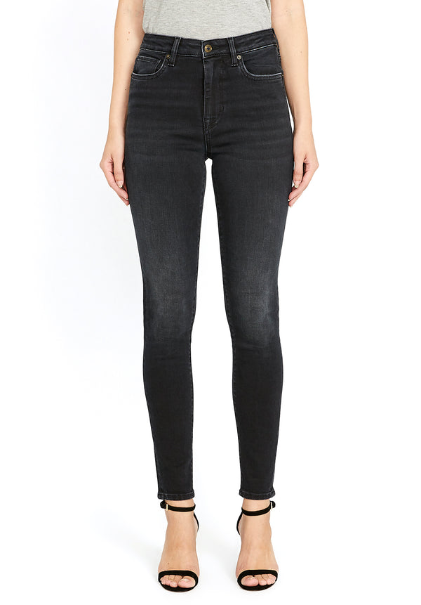 Buffalo David Bitton HI RISE SKINNY SKYLAR JEANS - BL15664 COLOR CARBON