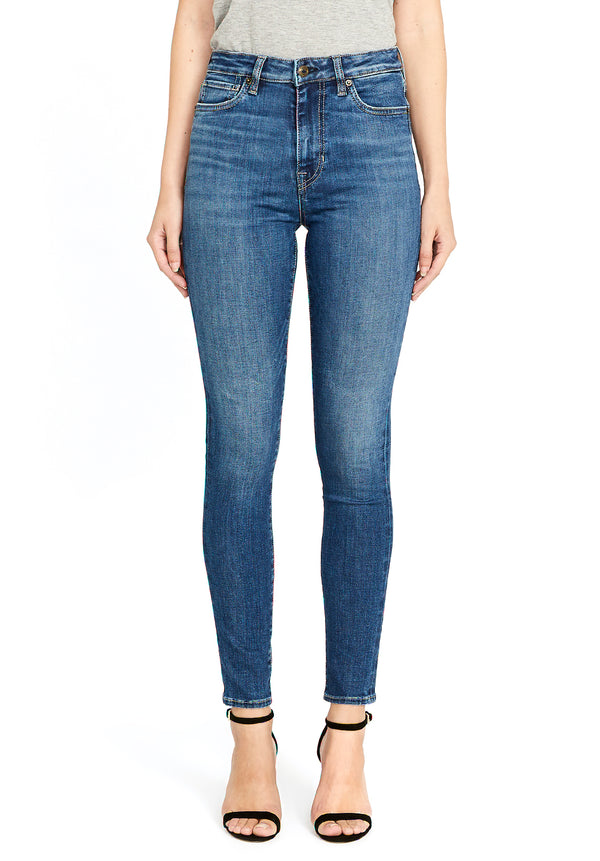 Buffalo David Bitton HI RISE SKINNY SKYLAR JEANS - BL15675 COLOR INDIE WASH