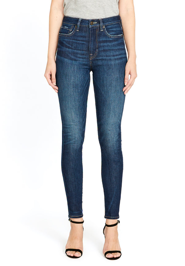 Buffalo David Bitton HI RISE SKINNY SKYLAR JEANS - BL15703 COLOR NIGHT RAIN