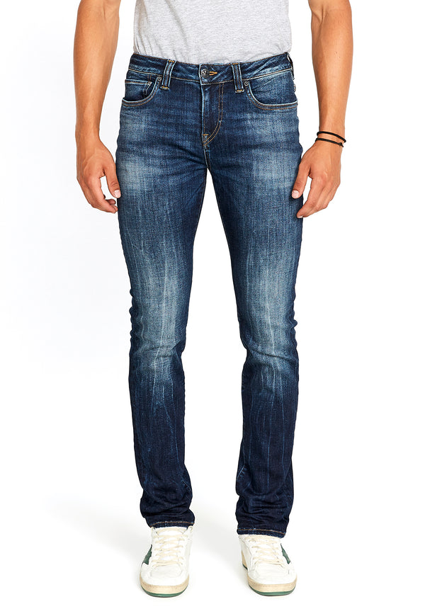 Buffalo David Bitton SLIM ASH JEANS - BM22591 COLOR INDIGO