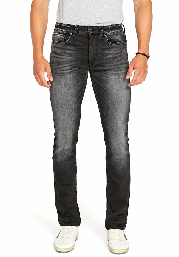 Buffalo David Bitton SLIM ASH JEANS - BM22597 COLOR BLACK