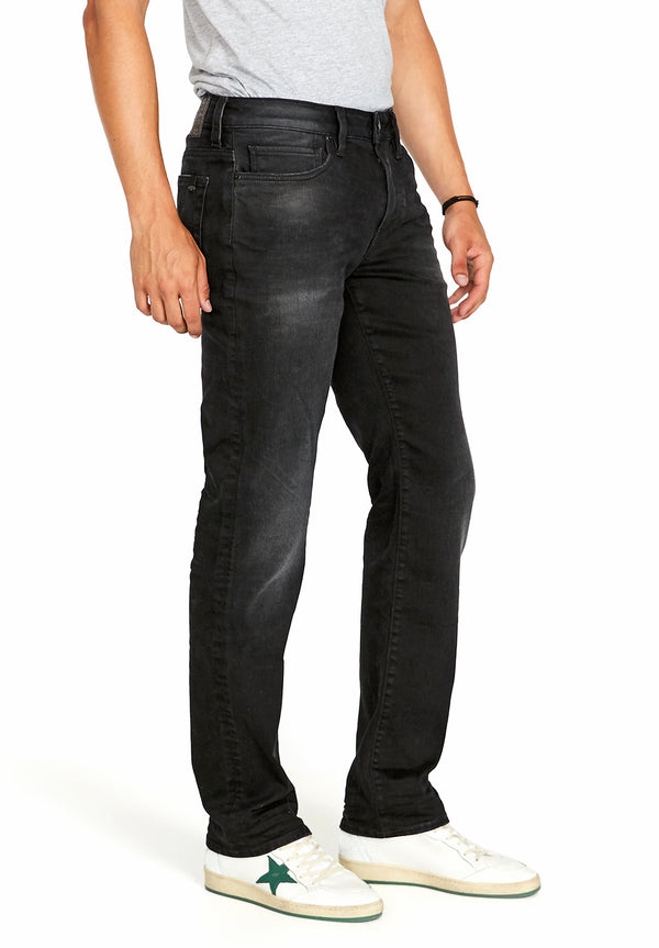 Buffalo David Bitton STRAIGHT SIX JEANS - BM22614 COLOR BLACK