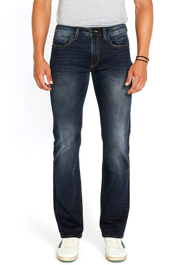 Buffalo David Bitton RELAXED STRAIGHT DRIVEN JEANS - BM22639 COLOR INDIGO