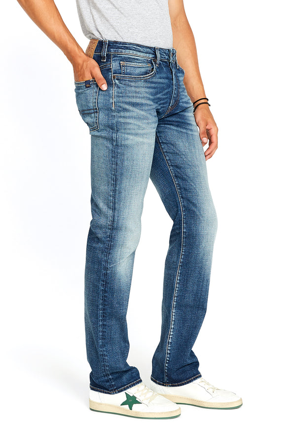 Buffalo David Bitton RELAXED STRAIGHT DRIVEN JEANS - BM22641 COLOR INDIGO