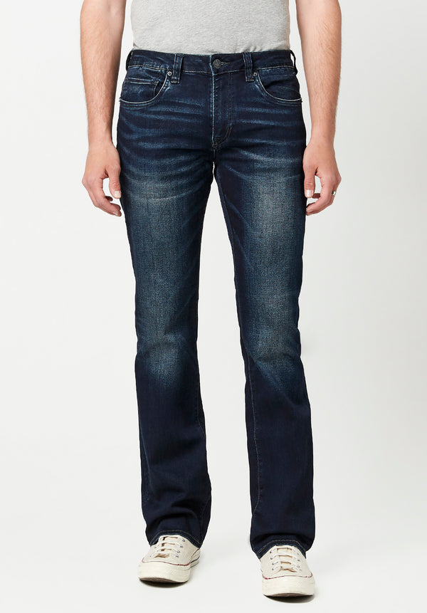 Buffalo David Bitton SLIM BOOT KING JEANS - BM22675 COLOR INDIGO