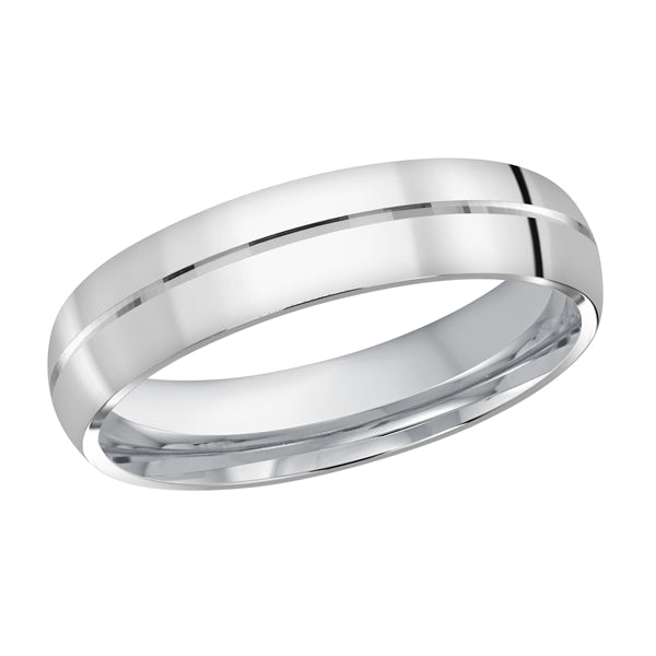 Men's Classic Wedding Band- Single Line