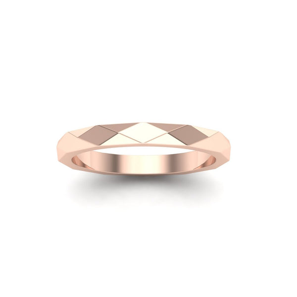Geometric Wedding Band