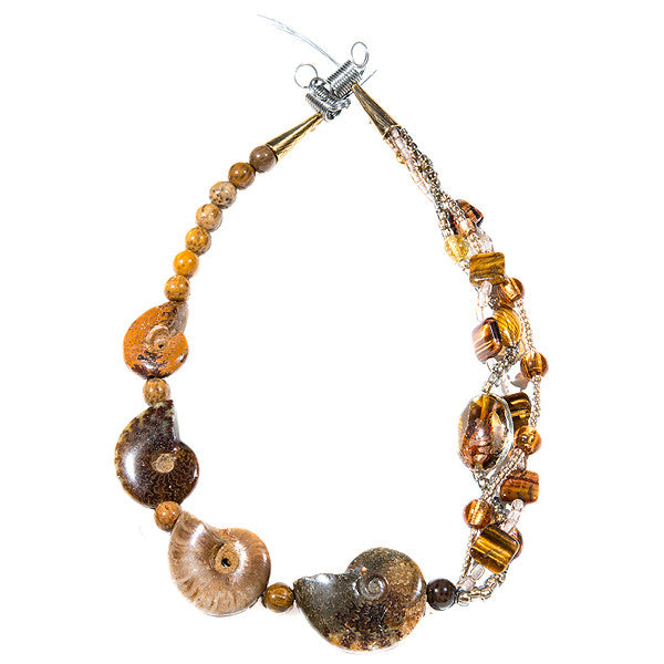 Gaia - Ammonite Necklace Full View