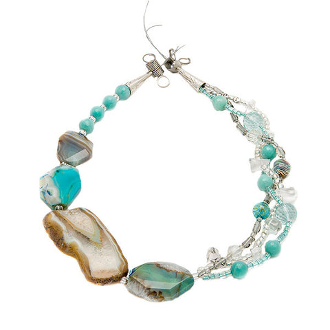 Thalassa - Caribbean Blue Agate Necklace
