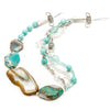 Thalassa - Caribbean Blue Agate Necklace S View