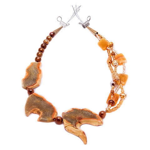 Turan - Orange Agate Necklace