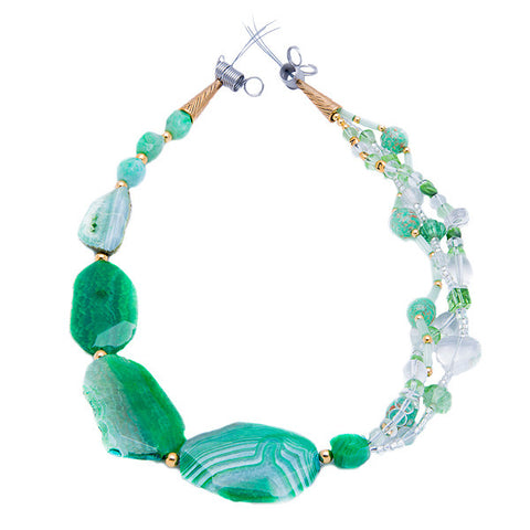 Danu - Green Agate Necklace