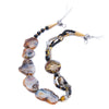 Alke - Black and White Agate Necklace S View