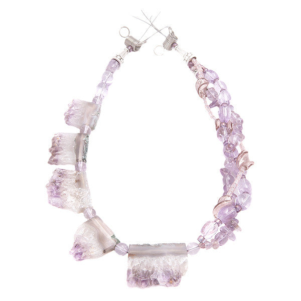 Freya - Amethyst Necklace Full View