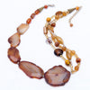 Fortuna - Brown Agate Necklace S View