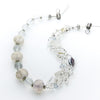 Hemera - Silver Mesh and Crystal Necklace