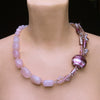 Lelya - Rose Quartz Nugget Necklace