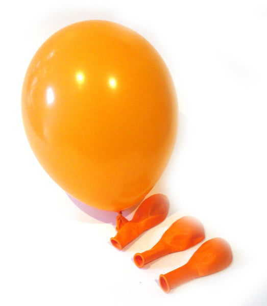 50 x Luftballons - schwarz / orange