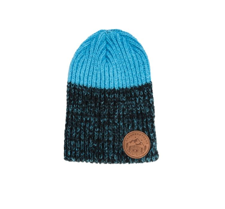 Crankbrothers Leather Patch Beanie, black/blue
