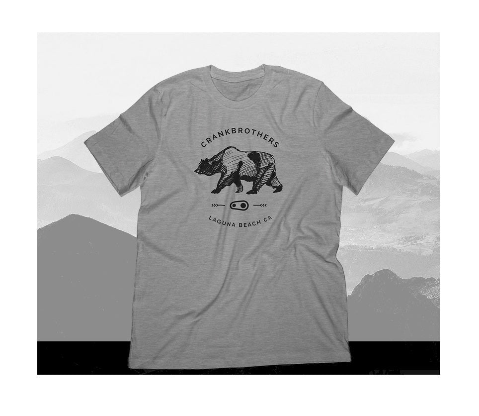 Crankbrothers Bear Sketch T-Shirt Man grey