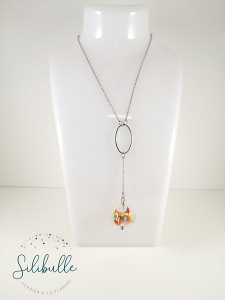 Collier perle multicolore