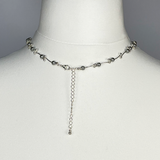 Silver beads necklace