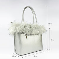 PU Leather Designer Woman medium tote bag