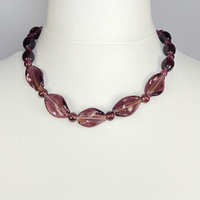 Purple stones necklace