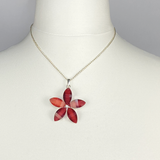 Necklace with red flower
