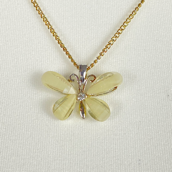 Necklace with butterfly pendant