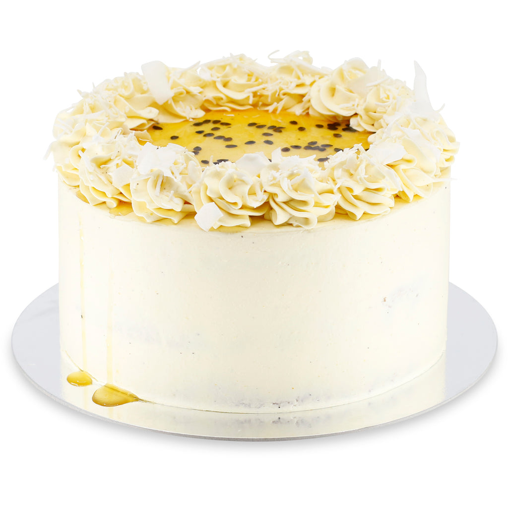 Coconut Lime & Passionfruit Cake