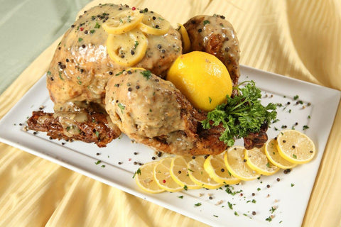 Dinner -Flavored Turkey (serves 4-6) flavor options: Lemon Pepper, Cajun Creole, Jerk Fried Turkey