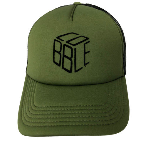 Cobble cap olive green / black