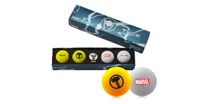 Load image into Gallery viewer, Marvel Thor Volvik Vivid 4 Balls with a Ball Marker Set