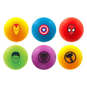 Load image into Gallery viewer, Marvel Iron Man Volvik Vivid 4 balls with a ball marker set