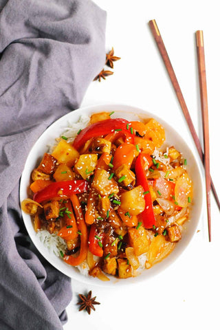 The Plantbase Store vegan sweet and sour tofu