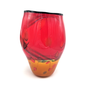 Load image into Gallery viewer, Landscape Vase by Seattle Glassblowing Studio