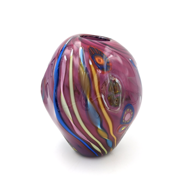 Load image into Gallery viewer, Murrini Vase by Seattle Glassblowing Studio