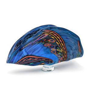 Load image into Gallery viewer, Murrini Fan by Seattle Glassblowing Studio
