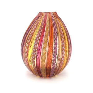 Load image into Gallery viewer, Vitriesse Glass Latticino Pink Egg Form